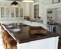 contemporary burnished walnut stain traditional kitchen walnut wood island countertop with undermount sink by brooks