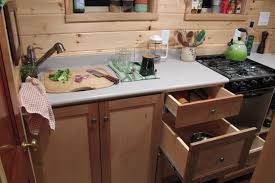 tiny house oven. Tiny House: Handmade Kitchen Cabinets With Corian Countertops House Oven