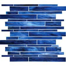 linear glass mosaic tile serenade stained glass mosaic blues blend random linear glass tile mosaic rip