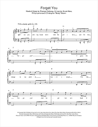forget you piano sheet music forget you piano sheet music by cee lo green easy piano