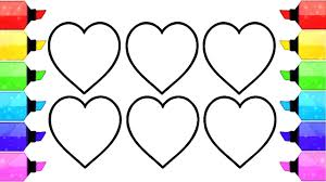 Small Picture Heart Shape Coloring Pages How to Draw and Coloring Heart Shapes
