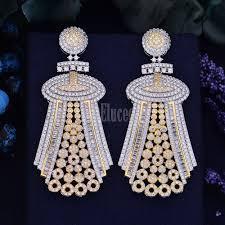 new arrival swarovski elements crystal luxurious trendy knight symbol cubic zirconia party wear long earrings