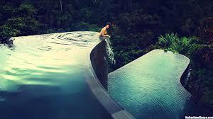 infinity pool backyard. Inspiration Outdoor Fantastic Backyard Infinity Pool With Jungle Excerpt