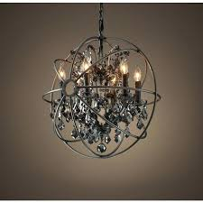foucaults orb chandelier orb smoke crystal chandelier a liked on featuring home lighting ceiling lights sphere