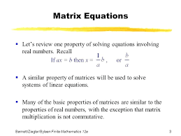 solve linear equations matrices math 3 matrix equations mathletics answers