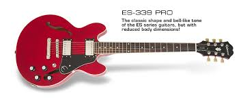 epiphone es 339 pro es 339 pro the classic shape and bell like tone of the es
