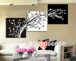 3 piece wall art sets handmade modern abstract acrylic oil painting on canvas home decoration black