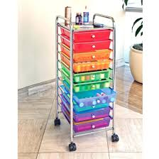 office rolling cart. Seville 10 Drawer Multi Color Rolling Cart Office School Garage Storage Crafts Ebay N