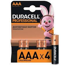 Купить Батарея <b>Duracell</b> Professional <b>AAA</b> LR03/MN2400 4шт. в ...