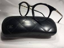 chanel 3282. new authentic chanel 3349q c.501 black \u0026 gold chain eyeglasses 49mm w/case chanel 3282