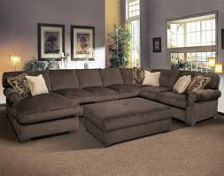 U Shaped Couch Living Room Furniture Palecek Rattan Xylophone Tray Sectional Sofas Ottomans And New York