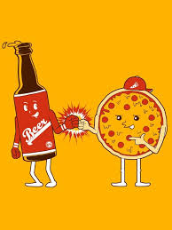 Image result for beer and pizza