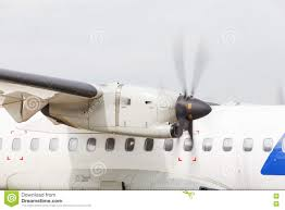 Turboprop Engine And Propeller Stock Image - Image of runway, russia ...