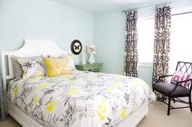 yellow gray and white bedroom. Plain White Gray And Yellow Bedding For And White Bedroom