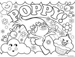 Print Trolls Poppy Coloring Pages Coloring Pages Kleurplaten