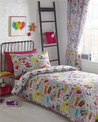 teenage girls bedding urban street theme