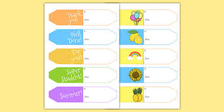 Summer Gift Tags End Of Year Editable Gift Tags End Of Year Editable Poem