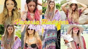 celeb style steal vanessa hudgens boho coaca outfits hair make up you
