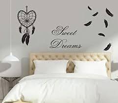 Greenluup Wandtattoo Spruch Zitat Sweet Dreams Traumfänger Feder