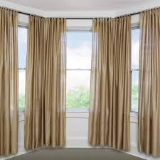 how to hang curtains in a square bay window curtain how to hang eyelet curtains in