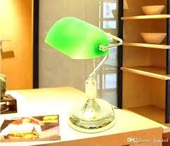 green bankers desk lamp office