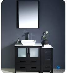 removing bathroom sink cabinet espresso modern bathroom vanity vessel sink with faucet and linen side cabinet option