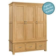 triple wardrobe with 3 drawers
