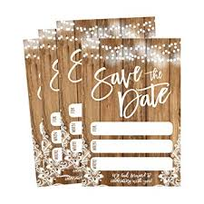 Blank Save The Date Cards Amazon Com 50 Rustic Save The Date Cards For Wedding Engagement