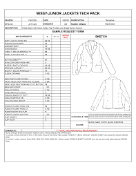product spec sheet template designers nexus how to spec a garment ebook apparel techpacks