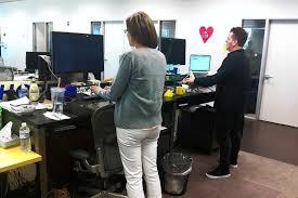 office desk standing. google office desk standing desks are on the rise wsj a