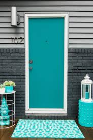 Not necessarily in the amount of work because it wasn't that intensive but when you change the appearance of the entire front of your house that is pretty big! Turquoise And Blue Front Doors With Paint Colors House Of Turquoise