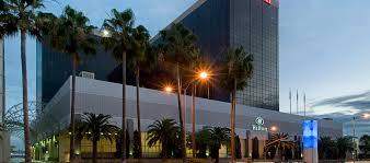 hilton los angeles airport hotel ca exterior at night