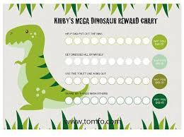 Dinosaur Reward Chart And Stickers Personalised Dinosaur Chore Chart Instant Download Reward