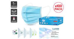 <b>100 Pcs 3</b> Ply Protective Disposable Face Mask - Kogan.com