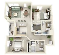 Looking for the feel of a larger space but only need two bedrooms this design