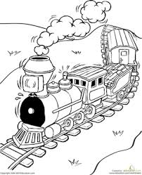 Thomas and diesel are having a fun race with christmas celebrations on. Train Coloring Pages Education Com