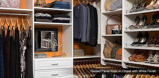 walk in closet systems. Custom Walk In Closet System Raised Panel With White Finsh Systems