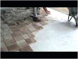 patio pavers over concrete. Ideas Pavers Over Concrete Patio And Slabs A Warm Laying Thin 85