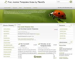 Free Joomla 15x Templates Back To Nature By Themza