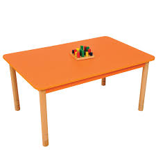 rectangle table clipart. height adjustable beechwood rectangle table \u2013 orange clipart