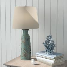 Lovely Ceramic Table Lamps Coastal Style Accent Base Inside