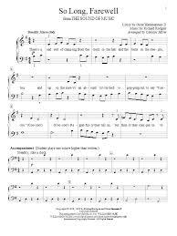 sheet music direct us so long farewell sheet music direct