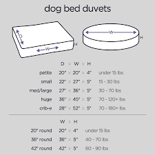 Pet Bed Size Chart Dog Bed Duvets Dog Bed Covers Pet Bed Covers Molly Mutt
