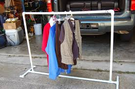 Pvc Pipe Coat Rack Magnificent DIY PVC Pipe Portable Clothes Rack Crafts And Projects Pinterest