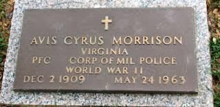 Pfc Avis Cyrus Morrison (1909-1963) - Find A Grave Memorial