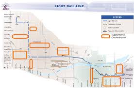 Phoenix Light Rail Stops Map Supplementing Public Transportation Phoenix Community