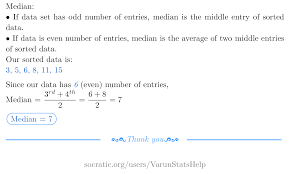 What Is The Median Of The Following Numbers 15 8 3 5 6 11