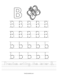 Letter B Worksheets for Preschool Kindergarten Printable