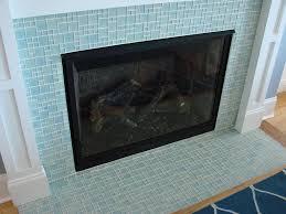 pleasurable design ideas glass tile fireplace surround 31