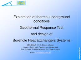 Geothermal Borehole Design Ppt Exploration Of Thermal Underground Conditions